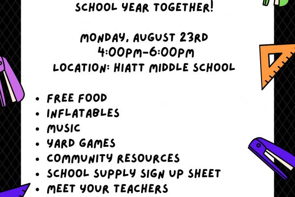 Hiatt Back to School Bash